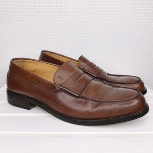 Tods Mens Penny Loafers Brown Leather US 11 UK 10